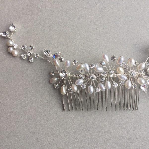 Polaris bridal hairvine comb