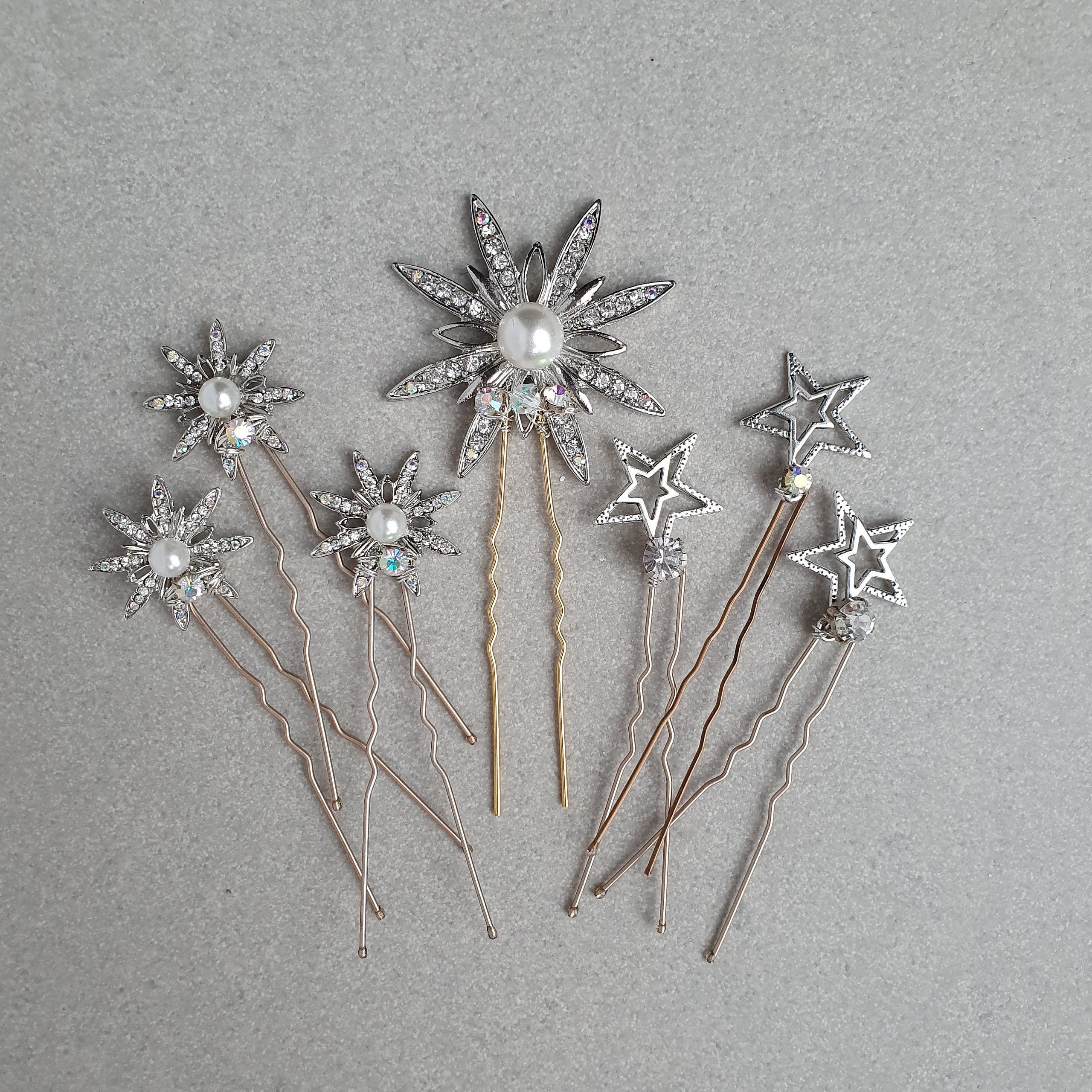 Celestial star diamante hairpins