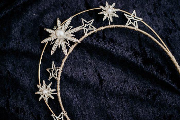 Celestial star halo tiara