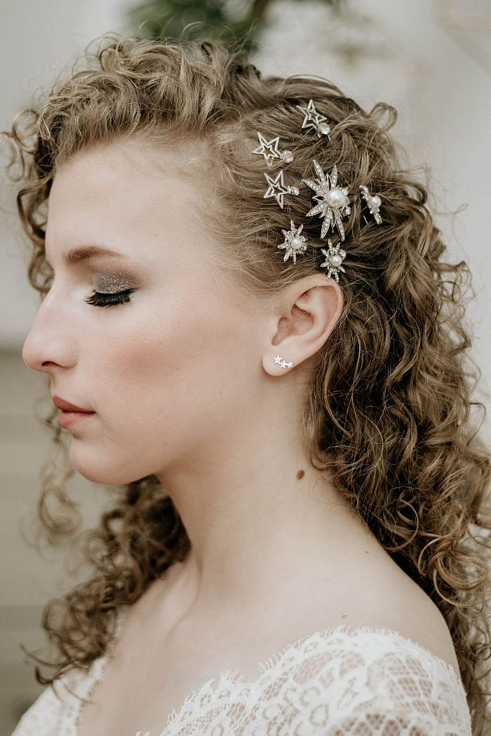 Celestial diamante star hairpins